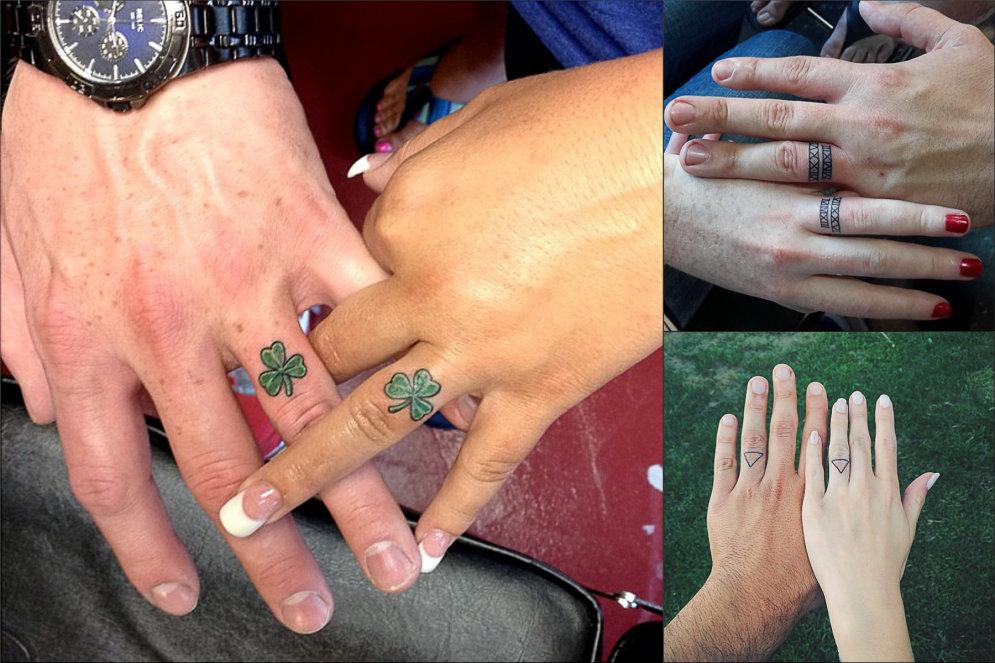 Обручальное кольцо татуировка