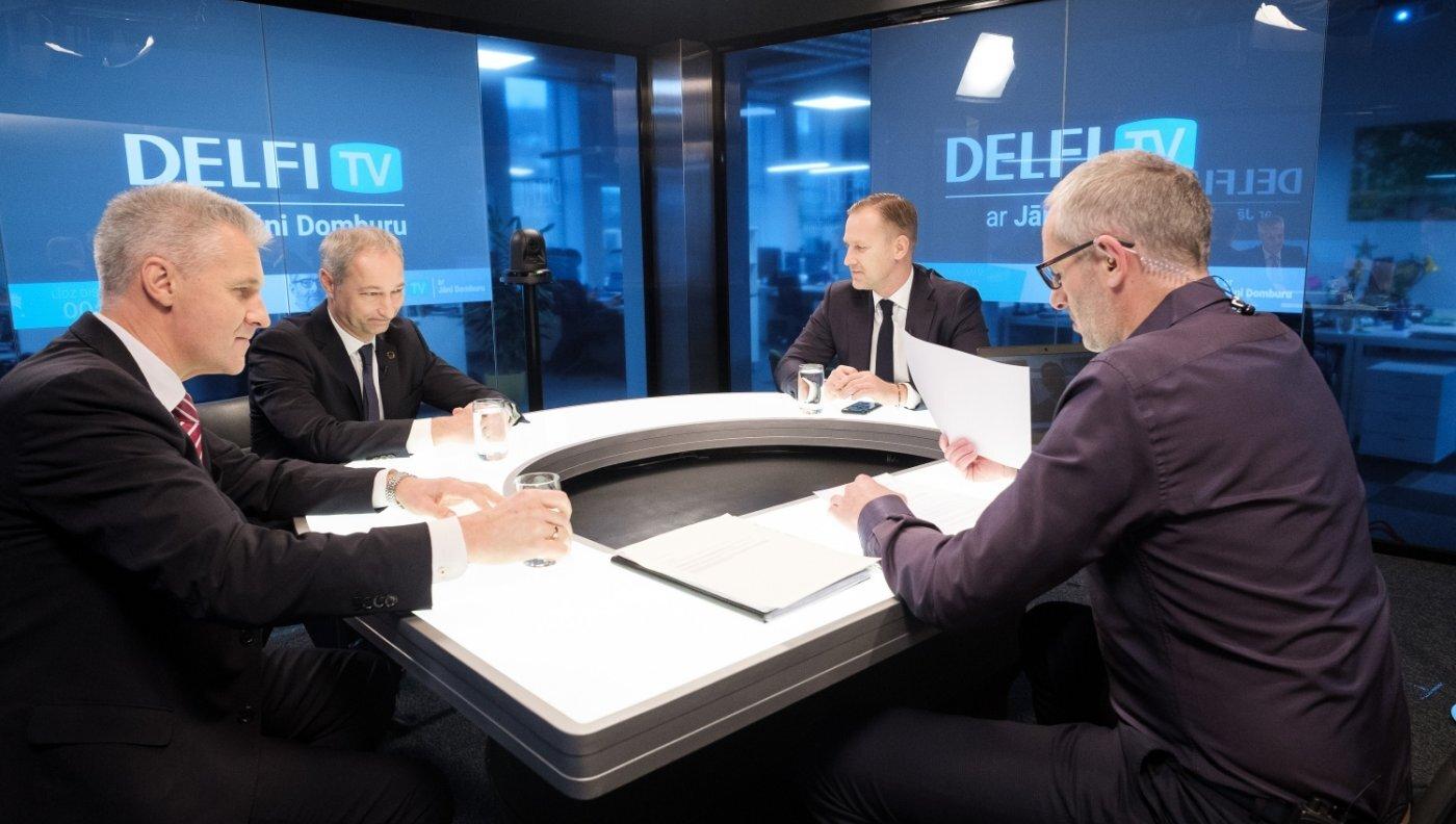 'Delfi TV ar Jāni Domburu' atbild Gobzems, Bordāns un Pabriks. Pilns ieraksts