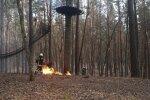 'Sajūtu parkā' uguns noposta 'putnu ligzdu'