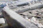Толщина льда на Лиелупе достигает местами 15 см