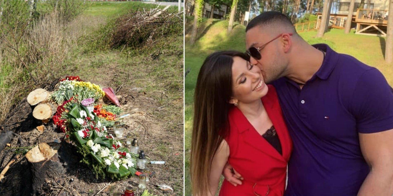 Divi vainagi, ziedi un sveces – nedēļa pēc traģiskās 'Ferrari' avārijas