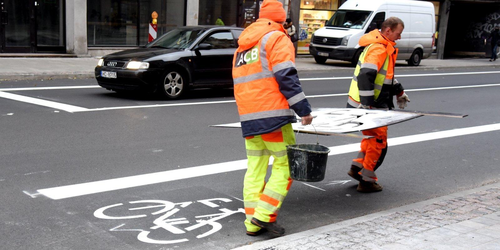 Теперь пешком быстрее. Эксперимент на улице Чака привел к пробкам, но Дума продолжает искать место для велосипедов