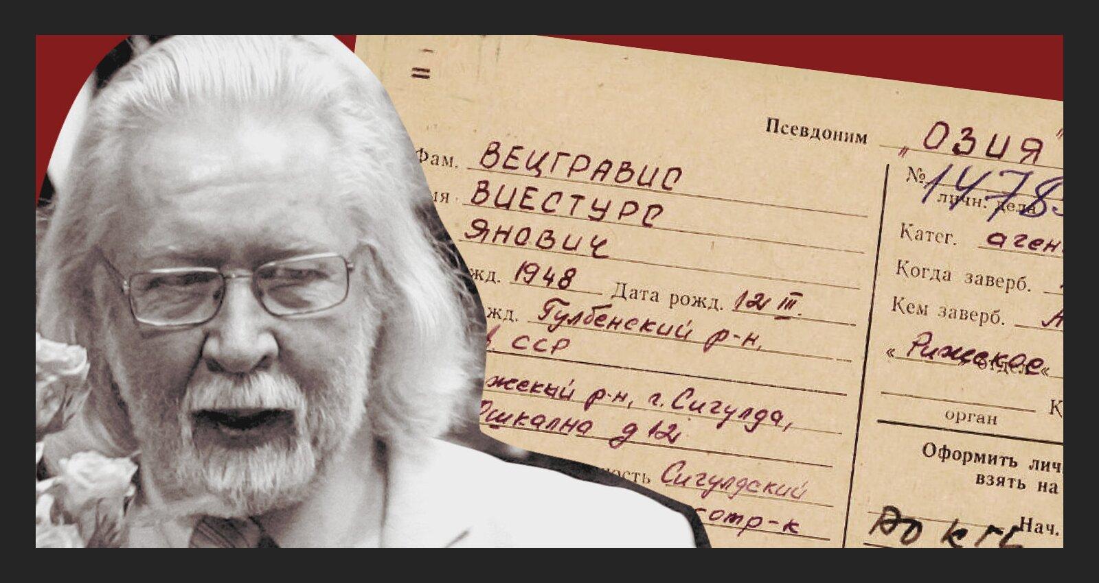 'Maisi vaļā': Aģents 'Ozija' ziņo par grāmatniekiem un literātiem; profesors Vecgrāvis: 'Tagad negribu runāt'