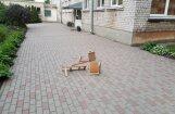 Foto: Bariņš pusaudžu Iļģuciemā izrēķinās ar bērnudārza teritorijā esošiem krēsliem