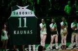 Foto: 'Žalgiris' godina Lietuvas basketbola leģendu Saboni