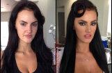 'Playboy' zaķi un pornozvaigznes pirms un pēc grima uzklāšanas