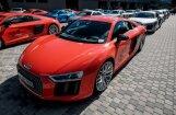 Foto: Brauciens ar 'Audi' sportiskajiem modeļiem Biķernieku trasē