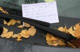 ФОТО: водитель получил записку от соседа с