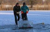 Foto: Jelgavā gatavojas 16. starptautiskajam ledus skulptūru festivālam
