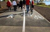 ФОТО: В Риге открылась новая велодорожка, ведущая из центра до Румбулы