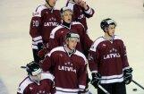 Latvijas  hokejistiem  pirmā uzvara pārbaudes spēlēs pirms PČ