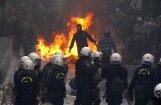Streiks Grieķijā izvēršas masu nekārtībās