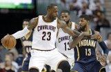 'Cavaliers' līderi samet 89 punktus un NBA 'play-off' otro reizi pārspēj 'Pacers'