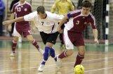 Latvijas telpu futbolisti Baltijas kausā uzvar Igauniju