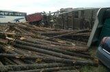 Video: Pie Salaspils uz auto izbirst baļķu krava