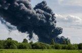 Пожар в Юрмале локализован, но движение по Вентспилсскому шоссе закрыто