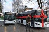 'Jūrmalas autobusu satiksme' prezentē jaunos un videi draudzīgos autobusus 'Isuzu' Citibus'