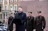 Es katru no jums aicinu – iestājieties par Latviju, uzrunā pie Brīvības pieminekļa saka Vējonis
