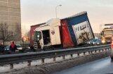 ФОТО: Пьяный польский водитель устроил аварию на Южном мосту