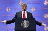 Tramps piekāpjas Kimam militārā jautājumā, sankcijas neatcels