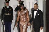 Mišela Obama apžilbina pēdējās vakariņās pirmās lēdijas godā