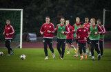 ФОТО: Сборная Латвии по футболу готовится к матчам с