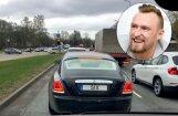 Foto: Porziņģa 'Rolls-Royce' šoferis ir brālis Mārtiņš