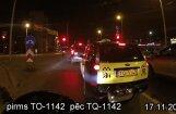 Video: Taksists ar līmlenti 'pielabo' auto numurzīmes burtu
