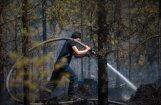 Valdgales pagasta ugunsgrēka dzēšanai Latvija no ES lūgs helikopterus (plkst. 17.57)