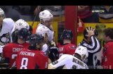 Video: NHL spēlētāji sakaujas uz rezervistu soliņa
