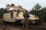 В Адажи показали американскую технику: танки Abrams и бронемашины Bradley