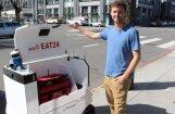 Video: Kā ēdienu Sanfrancisko piegādā mazi robotiņi