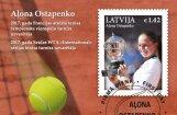 Ostapenko vēsturisko triumfu 'French Open' iemūžina pastmarkā