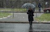 Brīvdienās līs un snigs slapjš sniegs; nākamnedēļ laiks kļūs vēsāks