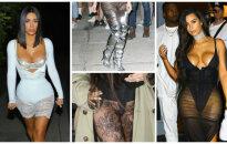 Пушистики, дырки и много обнаженки: самые безвкусные наряды Ким Кардашьян