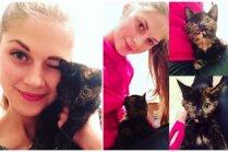 Mājas meklē Valentīndienā atrasta kaķenīte Lovella ar vienu actiņu