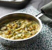 Kabaču 'frittata' jeb biezā omlete