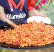 Pikantais maltās gaļas sautējums ar pupiņām un kukurūzu