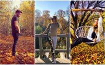 Krāšņi foto: Kā Latvijas slavenības izbauda zelta rudeni
