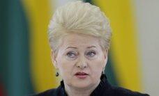 Grībauskaite: jāpanāk pēc iespējas lielāks sabiedroto ieguldījums Austrumeiropas drošībā