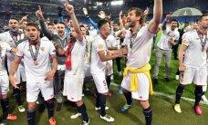 """ВИДЕО: """"Севилья"""" первой в истории трижды подряд выиграла Лигу Европы"""