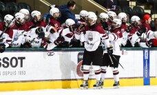 Latvijas U-18 hokejisti ar drošu uzvaru sāk cīņu par vietas saglabāšanu elitē