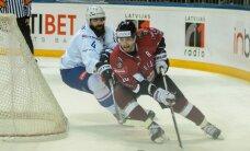 Latvijas hokeja izlase negūst vārtus spēlē pret Franciju