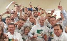 Foto un video: Kā 'Valmiera'/ORDO atzīmēja čempionu titulu