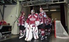 Rīgas 'Dinamo' savā laukumā cīnās pret 'Vitjazj' hokejistiem