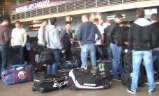 Video: Rīgas 'Dinamo' kaujinieciskā noskaņojumā dodas sezonas pirmajā izbraukuma tūrē