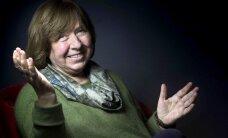 Nobela prēmijas laureāte Aleksijeviča aicina uz 'revolūciju cilvēku prātos'
