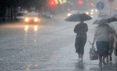 Sestdien vietām gaidāmas pērkona lietusgāzes; piektdien visvairāk lijis Kurzemē