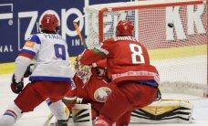 Krievijas hokejisti Uzvaras dienā sagrauj baltkrievus