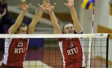 RTU/'Robežsardze' volejbolisti uzvar arī otrajā Latvijas čempionāta finālsērijas spēlē